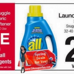 FREE Snuggle Fabric Softener with Your all Detergent Purchase!